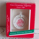First Christmas Together Miniature Ornament 1989 Hallmark