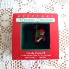 Candy Cane Elf Hallmark Miniature Christmas Ornament 1988