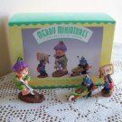 Getting Ready for Spring Set Hallmark Merry Miniature Figurines 1997