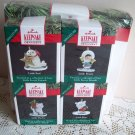 1990 Hallmark Memory Wreath Frosty Friends Little Ornaments Seal Bear Husky Boxed