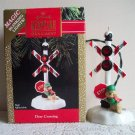 Deer Crossing Hallmark Blinking Lights Magic 1990 Christmas Ornament