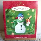 2001 Hallmark Son Snowman Christmas Ornament Hockey