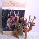 Folk Art Americana Home from the Woods Club Hallmark Ornament 1995