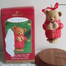 Snuggly Sugar Bear Bell 2001 Hallmark Christmas Ornament