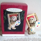 Beary Gifted 1993 Hallmark Christmas Ornament teddy artist
