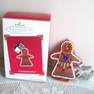Granddaughter Hallmark Gingerbread w Cookie Cutter Ornament 2003