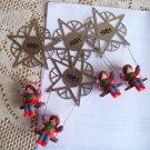 Hallmark 1981 Star Swing Four Ornaments