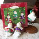 Jolly Santa Bells Set of 3 Hallmark 2001 Christmas Ornaments