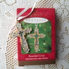 Beautiful Cross Hallmark Pewter 2001 Christmas Ornament