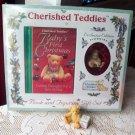 Cherished Teddies Figurine Book Set First Christmas