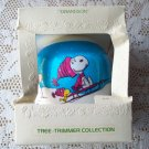 Snoopy Grandson 1979 Early Hallmark Satin Ball Christmas Ornament