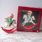 Carlton Godchild 1995 Rocking Horse Christmas Ornament