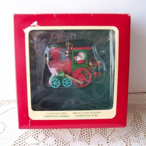 Carlton Christmas Express Engine #1 1990 Green North Pole Santa
