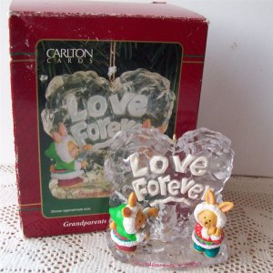 Carlton Grandparents Love Forever Ice Sculpting 2000 Ornament