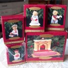 Hallmark Bearingers Ornament Set with Flickering Fireplace 1993