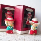Neice and Nephew 1993 Hallmark Christmas Two Ornaments