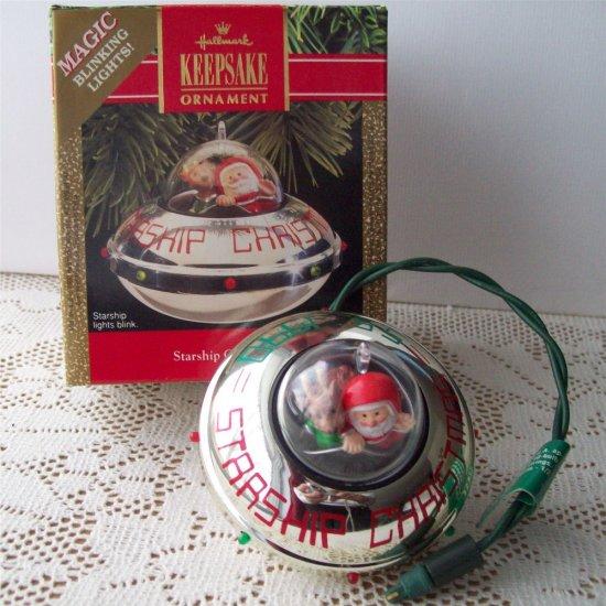 Starship 1990 Christmas Magic Blinking Lights Hallmark Ornament