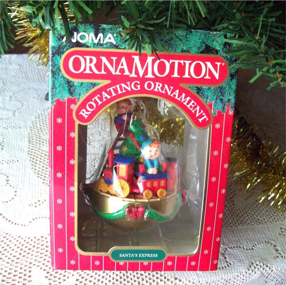 Noma Christmas Decorations: Santa's Express Noma Ornamotion Christmas Tree Train