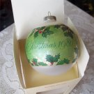 Hallmark 1980 Mother and Dad Glass Ball Christmas Ornament