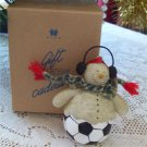 Avon Collection Snowman Sports Soccer Player Ornament