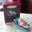 Water Bed Snooze Hallmark Christmas Ornament Polar Bear 1993