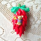 Feliz Navidad Mexican Hallmark Christmas Ornament Mouse on Red Pepper 1995