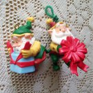 Happy Wrappers Hallmark Set of Two 1995 Christmas Ornaments Elves