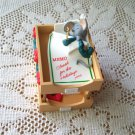 Important Memo Hallmark Office Christmas Ornament Mouse 1995