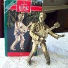 Elvis Presley 1992 Hallmark Christmas Ornament Brass Plated