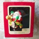Carlton 1988 Here Comes Santa w Reindeer Float
