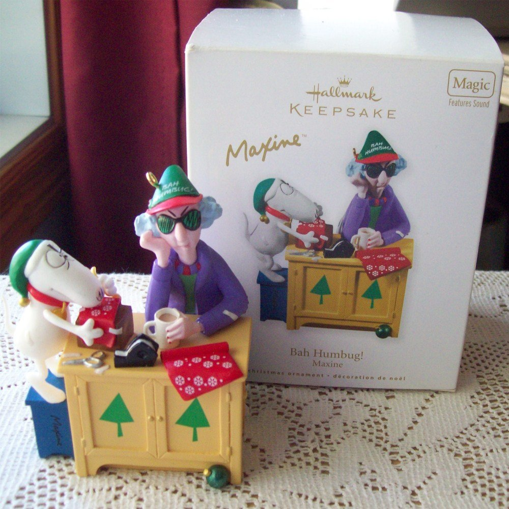Maxine Bah Humbug Hallmark Christmas 2010 Ornament Magic w sound