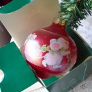 Hallmark 1987 Red Glass Ball Teardrop Time for Friends White Mice