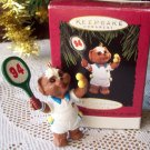 Practice Makes Perfect 1994 Hallmark Tennis Christmas Ornament