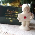Dept 56 Snowbabies Extra Special Delivery Swarovski Birthstone July