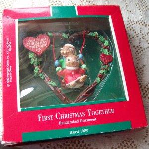 Hallmark First Christmas together 1989 Swinging Chipmunks