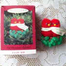 Our Christmas Together 1994 Red Birds Clip On Hallmark Ornament