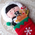Frosty Friends Christmas Stocking by Hallmark Red Felt Decoration