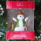 Hallmark Seasons Snowman Fishing Ornament 2010
