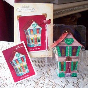 Christmas Ornament New Home by Hallmark 2004 Light Tin