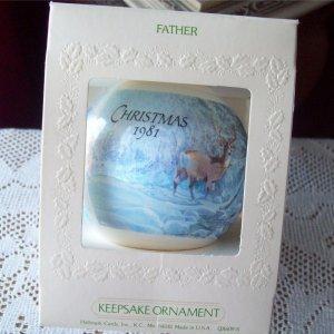 Hallmark Father ornament 1981 Satin Ball Deer