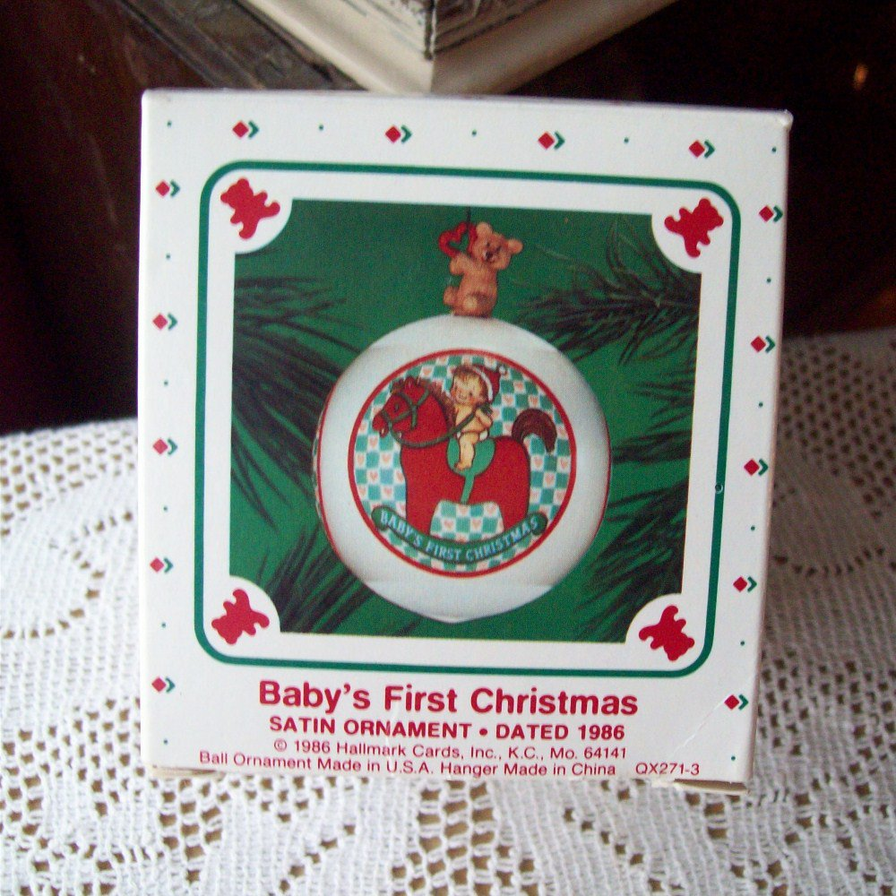 Hallmark Keepsake Baby S First Christmas 1986 Ornament