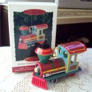 1994 Yuletide Central First in Series Hallmark Pressed Tin Christmas Ornament Train Locomotive