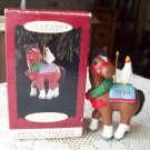 1994 Horse and Rooster Hallmark Ornament titled Cock A Doodle Christmas