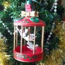 Noma Ornamotion Bird Cage w White Birds Christmas Ornament