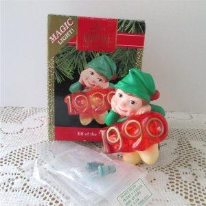 Elf of the Year 1990 Hallmark Magic Light Ornament