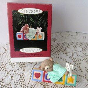 Hallmark Grandchilds first Christmas1995 Mouse Bear