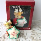 Child's Fourth Christmas 1995 Reindeer ornament by Carlton