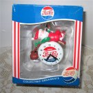 Pepsi Cola Clock Licensed Christmas Ornament with Santa by Matrix 1994
