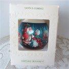 Santas Coming 1981 Hallmark Satin Ball Ornament