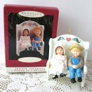 Hallmark Our Little Blessings 1995 Christmas Ornament Couple on Bench